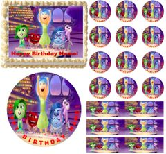 INSIDE OUT Movie Edible Cake Topper Image Frosting Sheet