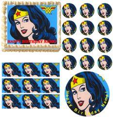 Wonder Woman Edible Cake Topper Image Frosting Sheet