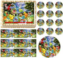 POKEMON Flying Edible Cake Topper Image Frosting Sheet