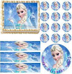 FROZEN ELSA Edible Cake Topper Image Frosting Sheet