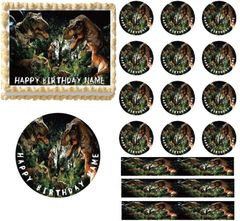 JURRASIC DINOSAUR WORLD Dinosaurs Edible Cake Topper Image Frosting Sheet