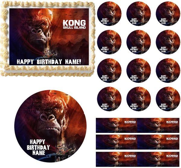 King Kong Skull Island Edible Cake Topper Image Frosting