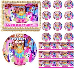 MY LITTLE PONY Birthday Party Edible Cake Topper Image Frosting Sheet