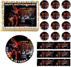 FIVE NIGHTS AT FREDDY'S FOXY Full Body Edible Cake Topper Image Frosting Sheet