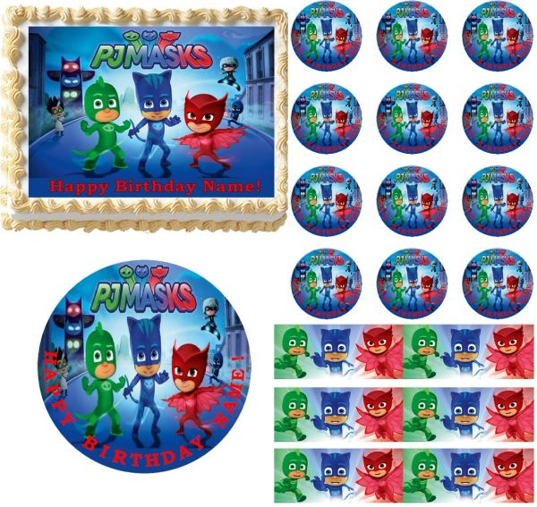 PJ Masks Edible Cake Topper Image Frosting Sheet Decoration