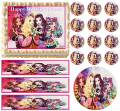 Ever After High Girls Party Edible Cake Topper Image Frosting Sheet Cake Decoration
