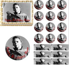 Halloween Michael Myers Edible Cake Topper Image Frosting Sheet Cake Decoration