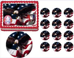 Eagle Scout Court of Honor Ceremony Centennial Patch Edible Cake Topper Image Frosting Sheet