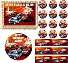 HOT WHEELS Race Car Theme Edible Cake Topper Image Frosting Sheet