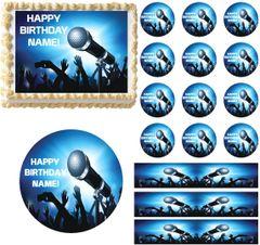 Karaoke Dance Party Edible Cake Topper Image Cupcakes Cookies Dance Cake Karaoke