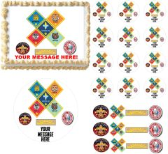 CUB SCOUTS RANKS Boy Scouts Edible Cake Topper Image Frosting Sheet