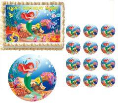 Little Mermaid ARIEL Edible Cake Topper Image Frosting Sheet Decoration