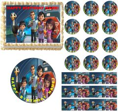 MILES FROM TOMORROWLAND Characters Edible Cake Topper Image Frosting Sheet