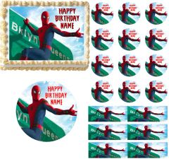 Spiderman Homecoming Edible Cake Topper Image Frosting Sheet Cupcakes