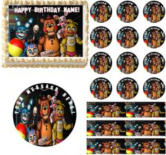 FIVE NIGHTS AT FREDDY'S Next Generation Edible Cake Topper Image Frosting Sheet
