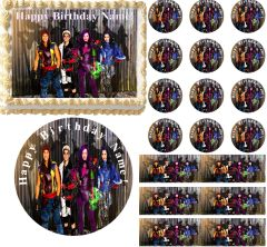Descendants Edible Cake Topper Image Frosting Sheet Cake Decoration