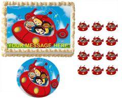 Little Einsteins Rocket Ship Music Notes Edible Cake Topper Image Frosting Sheet