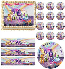 My Little Pony Equestria Girls RAINBOW ROCKS Party Edible Cake Topper Image Frosting Sheet