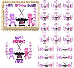 Girl Ninja Edible Cake Topper Image Frosting Sheet Cake Decoration Ninja Party