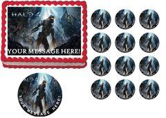 Halo 4 Gaming Edible Cake Topper Image Frosting Sheet Cake Decoration