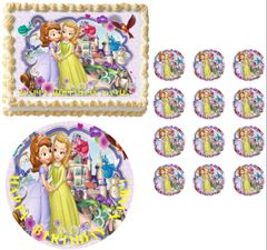 SOFIA the PRINCESS Sofia and Amber Edible Cake Topper Image Frosting Sheet