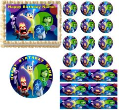 INSIDE OUT Characters Edible Cake Topper Image Frosting Sheet