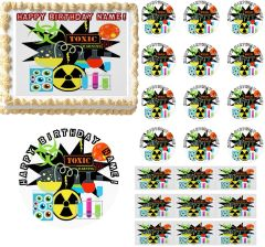 MAD SCIENTIST Theme Edible Cake Topper Image Frosting Sheet