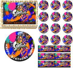 SPLATOON Paintball Edible Cake Topper Image Frosting Sheet