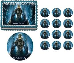 Halo 4 Master Chief Edible Cake Topper Image Frosting Sheet
