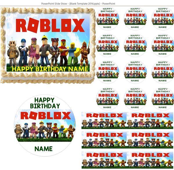 Roblox Edible Cake Topper Image Cupcakes Cake Topper