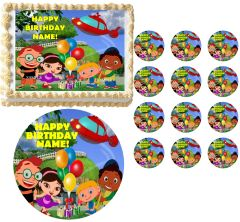 Little Einsteins Rocket Ship Characters Edible Cake Topper Image Frosting Sheet