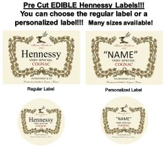 Hennessy Very Special Cognac Label EDIBLE Cake Topper Image Hennessy Personalized Labels