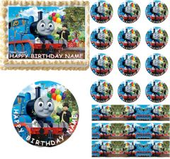 Thomas and Friends Edible Cake Topper Image Frosting Sheet Cake Cupcakes Train