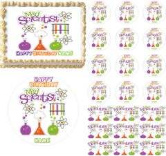 Mad Scientist Science Lab Edible Cake Topper Image Frosting Sheet Cupcakes