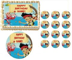 Jake and the Neverland Pirates Boat Edible Cake Topper Image Frosting Sheet