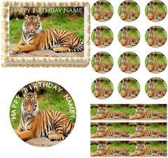 Bengal Tiger Edible Cake Topper Image Frosting Sheet Cake Decoration