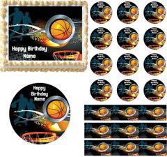 Basketball Sports Edible Cake Topper Image Basketball Cupcakes Edible Cake Image