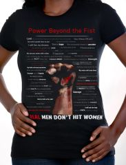 Power Beyond the Fist T-Shirt 52 Words to Freedom Campaign