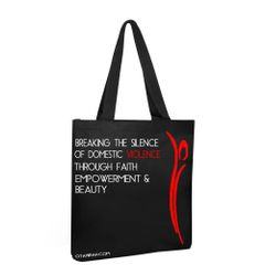 Breaking the Silence Black Canvas Tote Bag