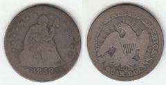 SCARCER 1853O A&R SEATED QUARTER