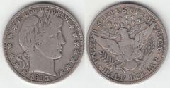 1915S VG+ BARBER HALF DOLLAR