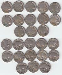 STARTER SET OF 13 DIFFERENT BETTER DATE BUFFALO NICKELS