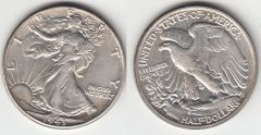 NICE AU 1943 L. W. HALF DOLLAR