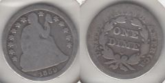 1859O SEATED DIME BETTER DATE
