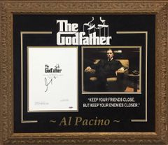 Al Pacino signed The Godfather movie script cover SOLD!