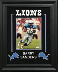 Barry Sanders Detroit Lions signed 8x10 SOLD!