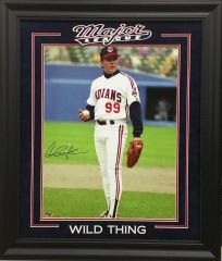 "Charlie Sheen ""Wild Thing"" Major League autographed 16x20 photo"