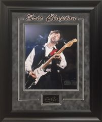 Eric Clapton 11x14 Photo With Engraved Autograph Replica Framed