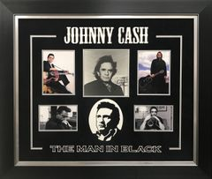 """Johnny Cash """" THE MAN IN BLACK"""" Photo Signed"""