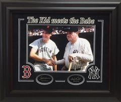 Ted Williams and Babe Ruth Photo -THE KID MEETS THE BABE